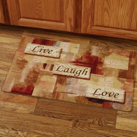 Live Laugh Love Comfort Mat Multi Warm 18 X 30