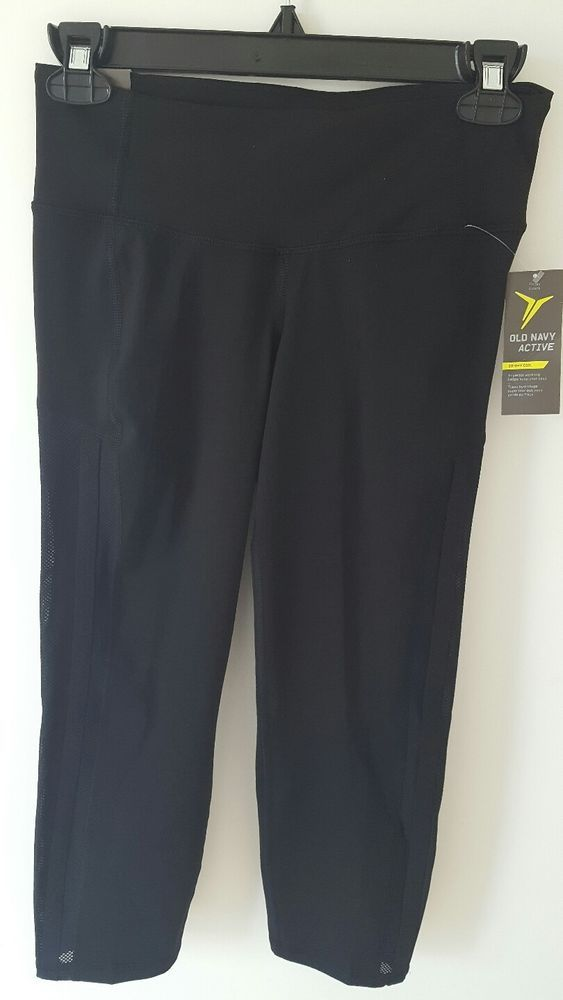 bc23466be7d955 New Old Navy Fitted Crop High Rise Work Out Mesh Pants Leggings Capri |  Clothing, Shoes & Accessories, Women's Clothing, Athletic Apparel | eBay!