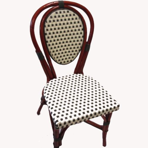 Parisian Rattan Chair Ivory Green Sq
