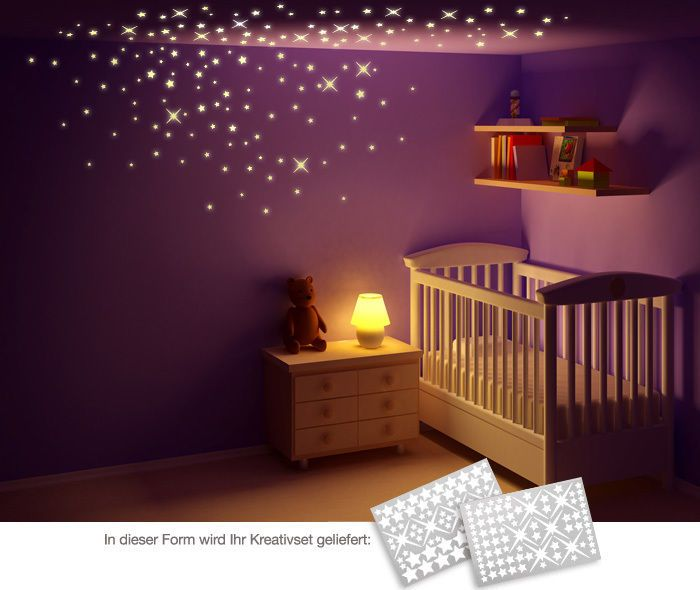 Spectacular Details zu Wandtattoo Wandsticker Wandaufkleber Kinderzimmer Leuchtsterne Stars W