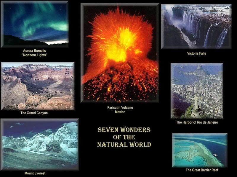 Seven Wonders Of The Natural World Wonders Of The World Natural