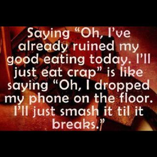 One bad day or one bad meal will not ruin my diet plan.