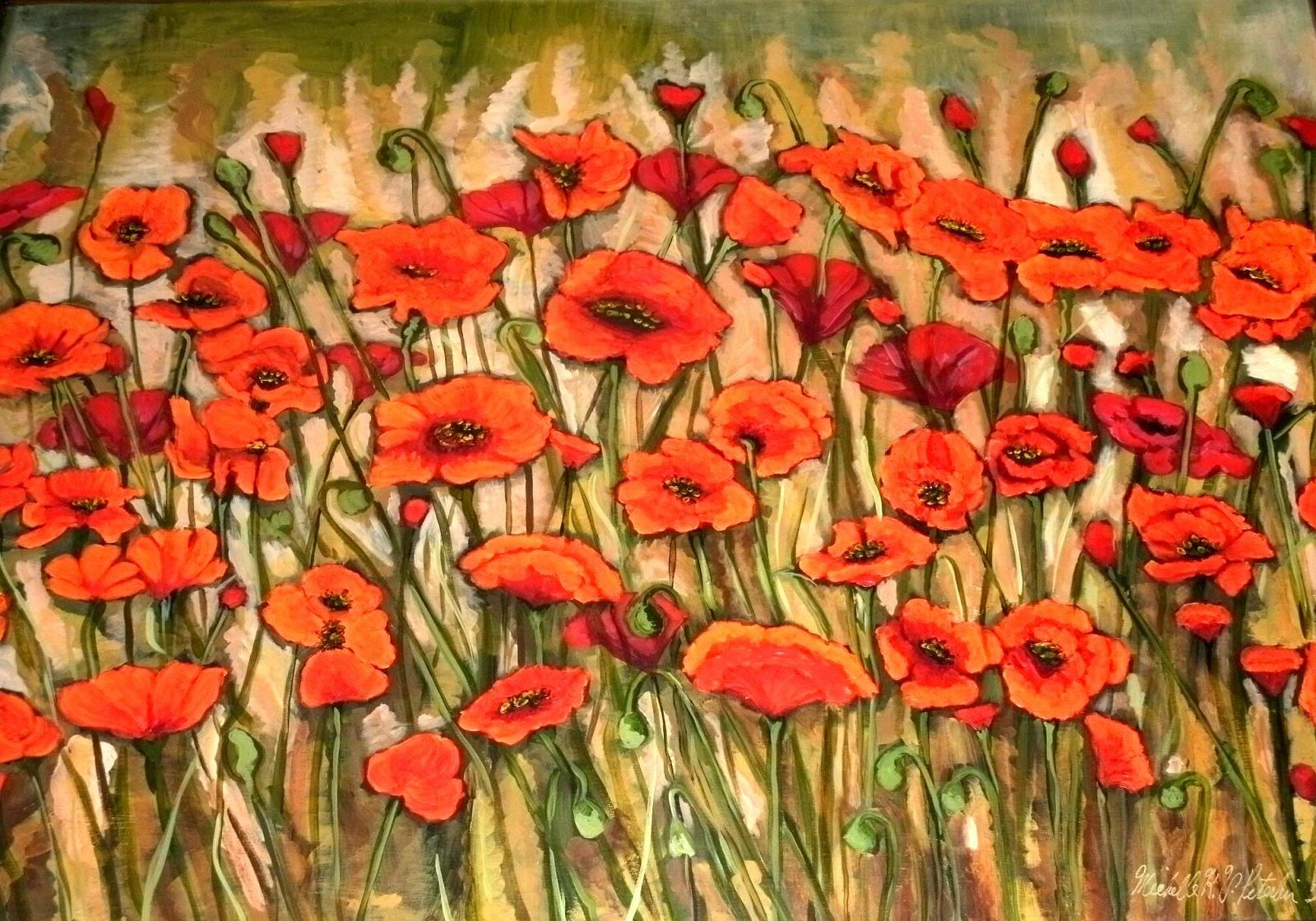 French Poppy Field Contemporary art gallery, Online art