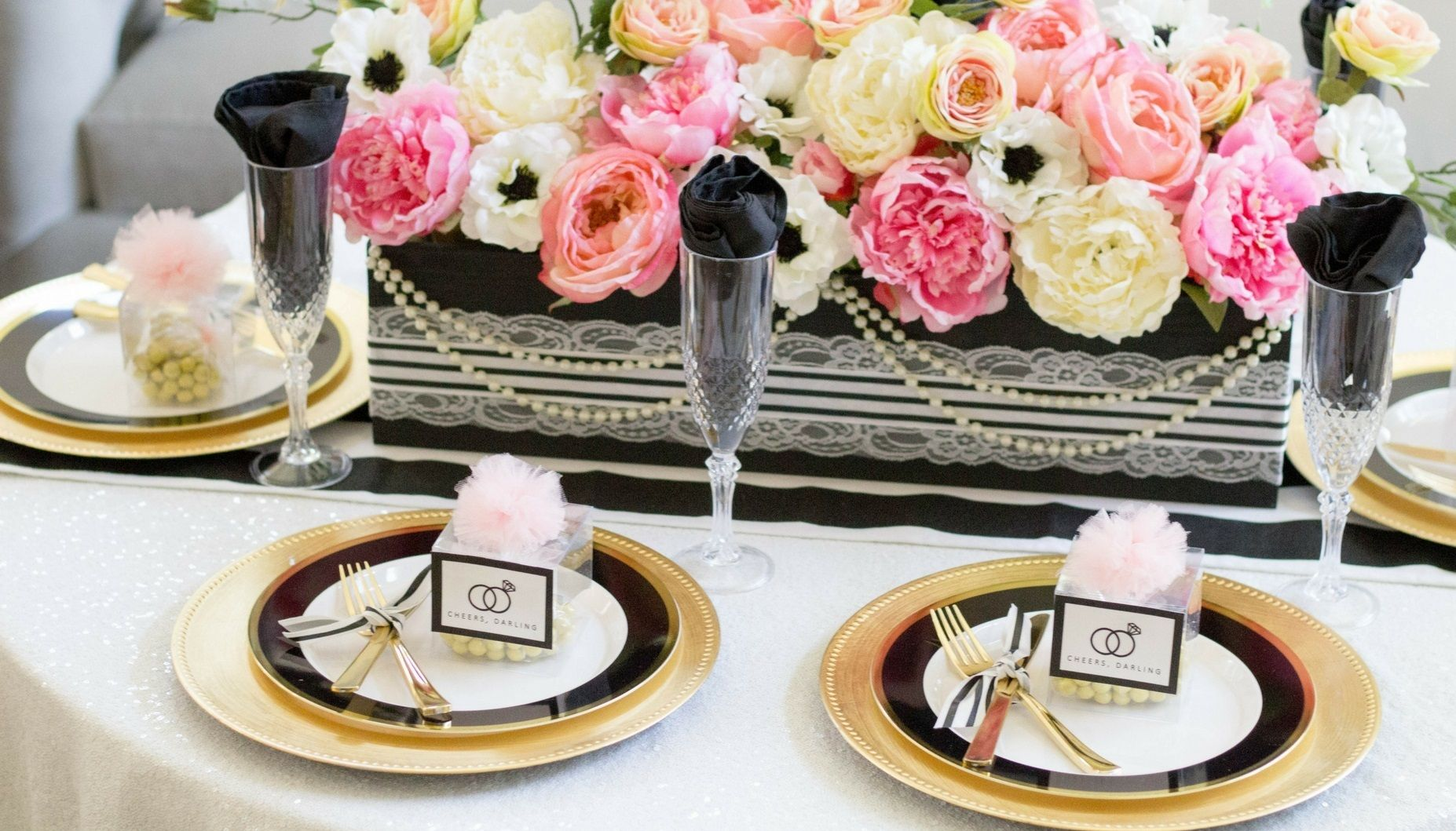 chanel inspired bridal shower carousel 1