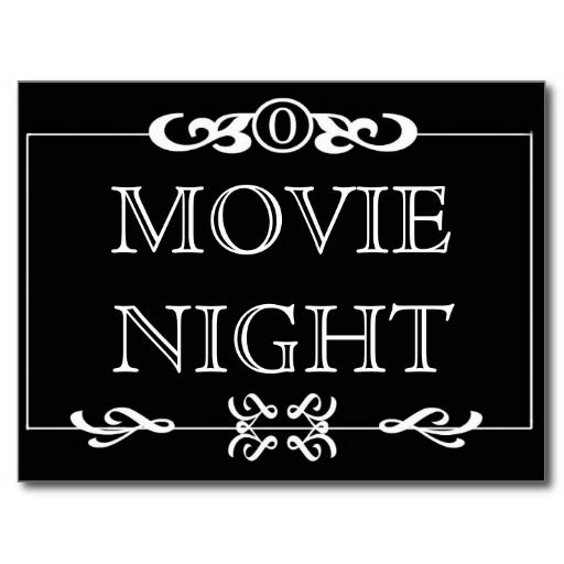 Movie Night Invitation Postcard Zazzle Friends Pinterest Movie