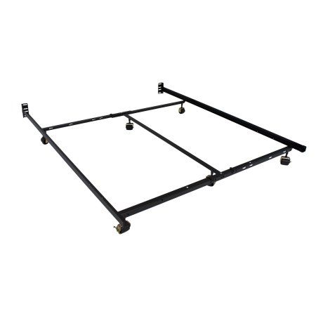 Hollywood Low Profile Premium Lev R Lock Bed Frame All Sizes Brown