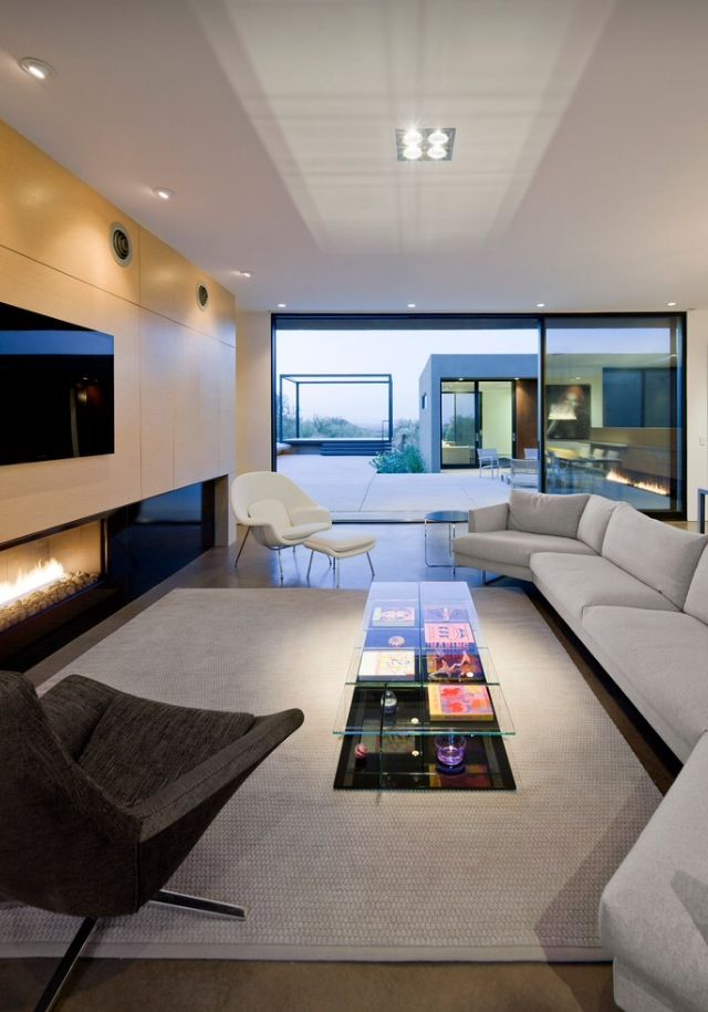 Levin Residence   Modern   Living Room   Phoenix   Ibarra Rosano Design  Architects Note The Fireplace. Part 75