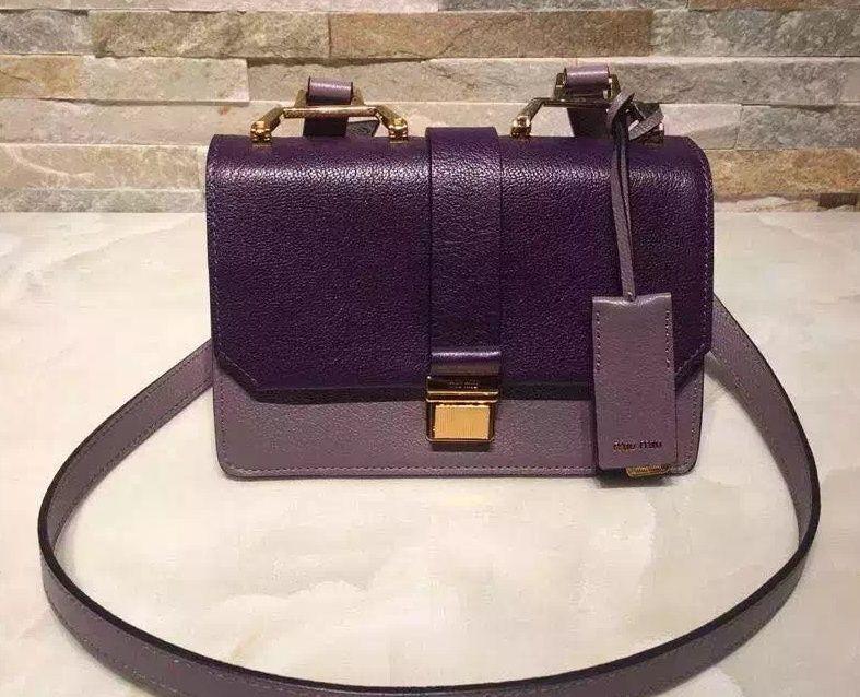Miu Miu Calfskin Organ Shoulder Bag Duotone Purple 2015   Miu Miu ... d954381b74