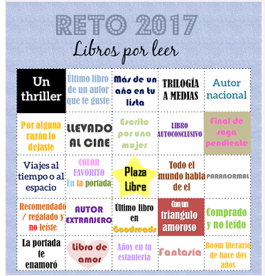 volando entre libros: RETO de LECTURA 2017