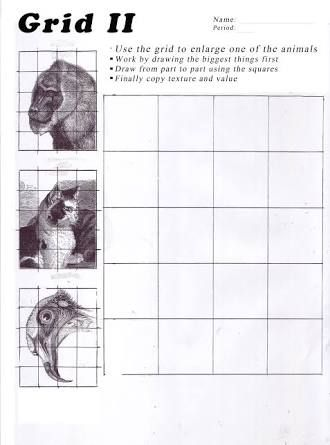 Image result for art worksheets | Animal faces GRID drawing 7th ...