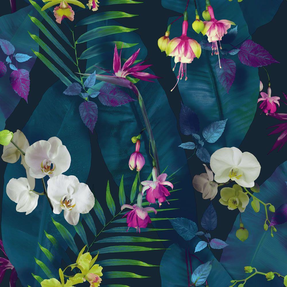 Arthouse Pindorama Navy Blue Wallpaper Floral wallpaper