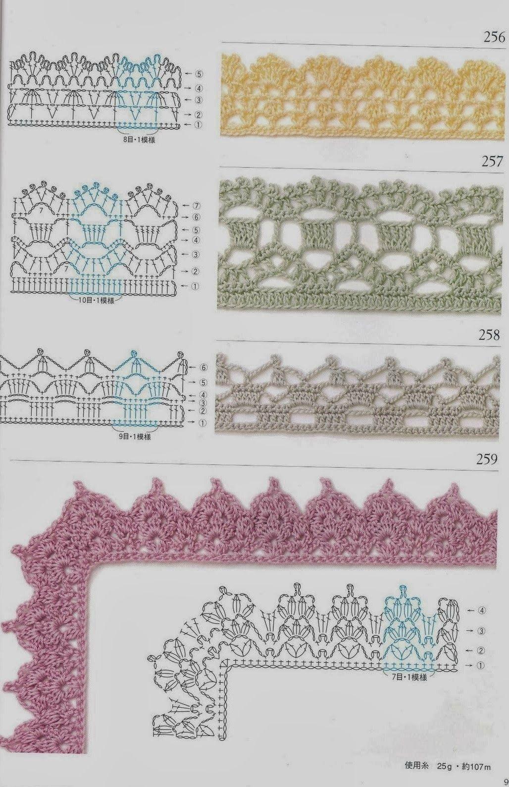 MES FAVORIS TRICOT-CROCHET: 75 bordures au crochet | Bordes tejidos ...