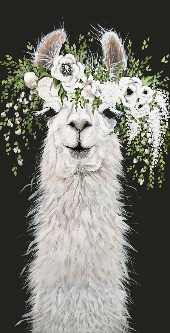 Dolly Llama Printed Canvas #dollies