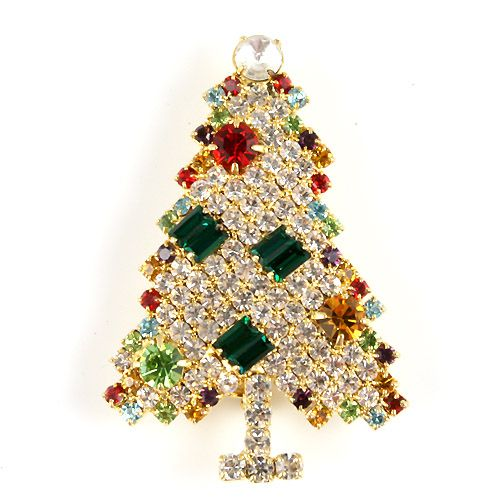 15+ Unique And Elegant Designs Of Christmas Jewels  - Christmas jewellery is a great and unique gift idea to present in this special occasion. Christmas is the time when all people celebrate together and ... -  festive-christmas-tree-crystal-rhinstone-brooch--497-p .