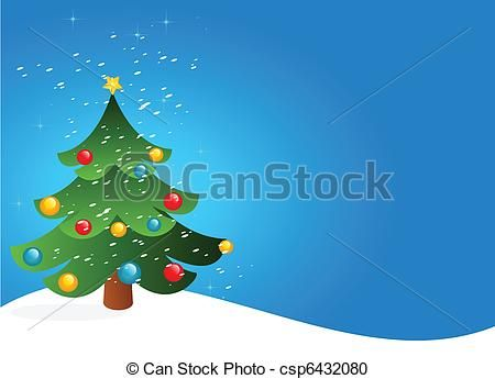 Vector Clipart Of Christmas Tree And Snow Csp6432080 Search Clip Art Illustration Drawings And Vector Eps Graphi Christmas Christmas Vectors Christmas Tree