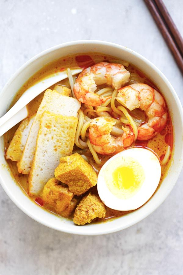 Laksa spicy street food noodle dish popular in malaysia and laksa easy delicious recipes rasa malaysia forumfinder Choice Image