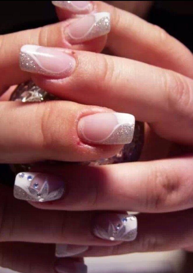 White & silver | cute nail polish art | Pinterest | Manicure, Makeup ...
