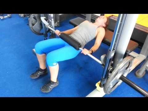 smith machine hip thrust  youtube  smith machine workout
