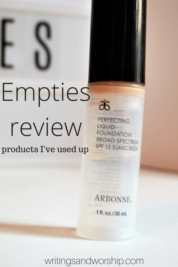 Beauty Empties Makeup reviews
