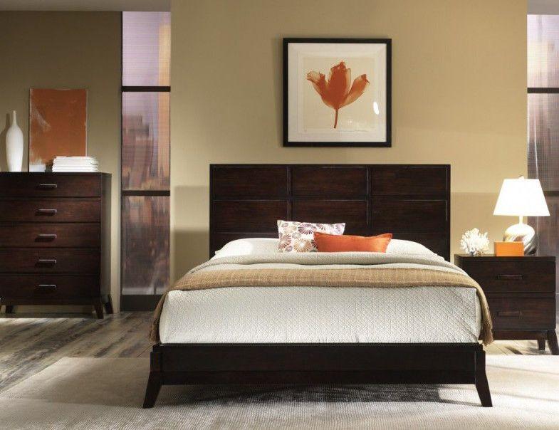 Muebles Oscuros Con Beige Colores Para Dormitorios Matrimoniales Colores Para Dormitorio Decoracion De Interiores Dormitorios Matrimoniales