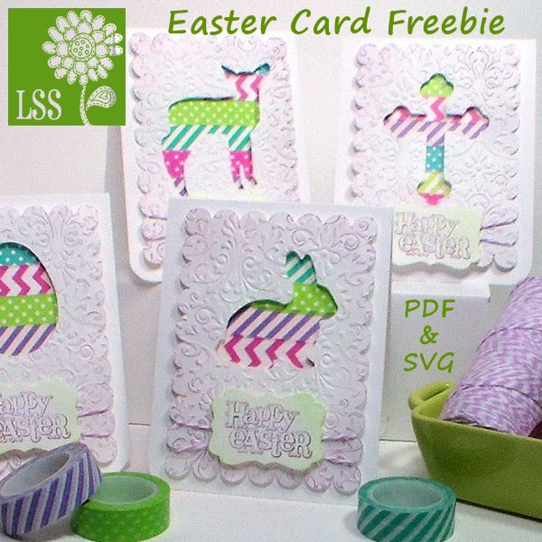 Make A Quick And Easy Set Of Four Easter Greeting Cards Using This