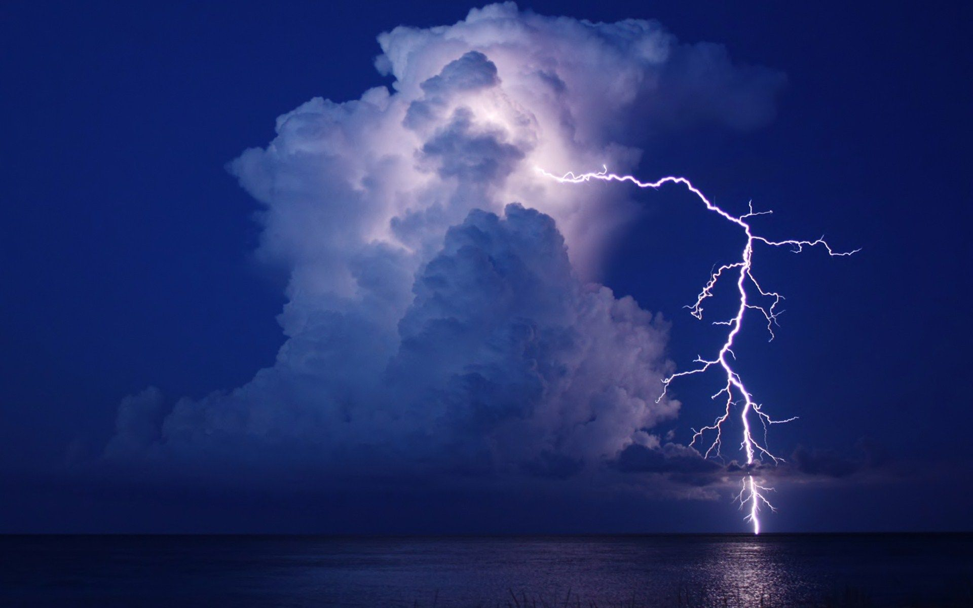 Thunderstorms And Lightning At Sea