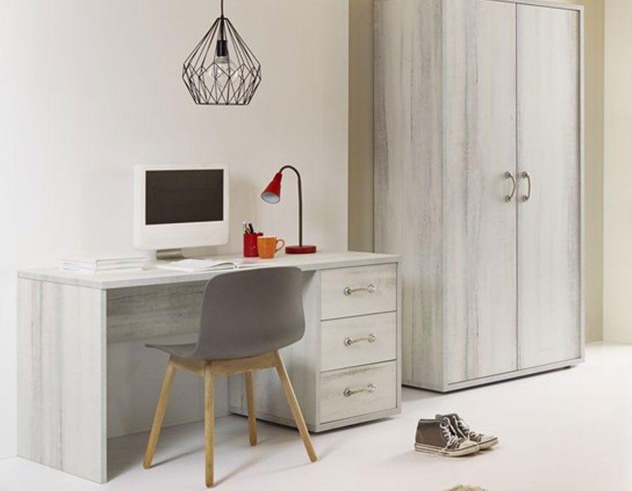 Bureau contemporain couleur bois blanc PIERRE Bureau Pinterest