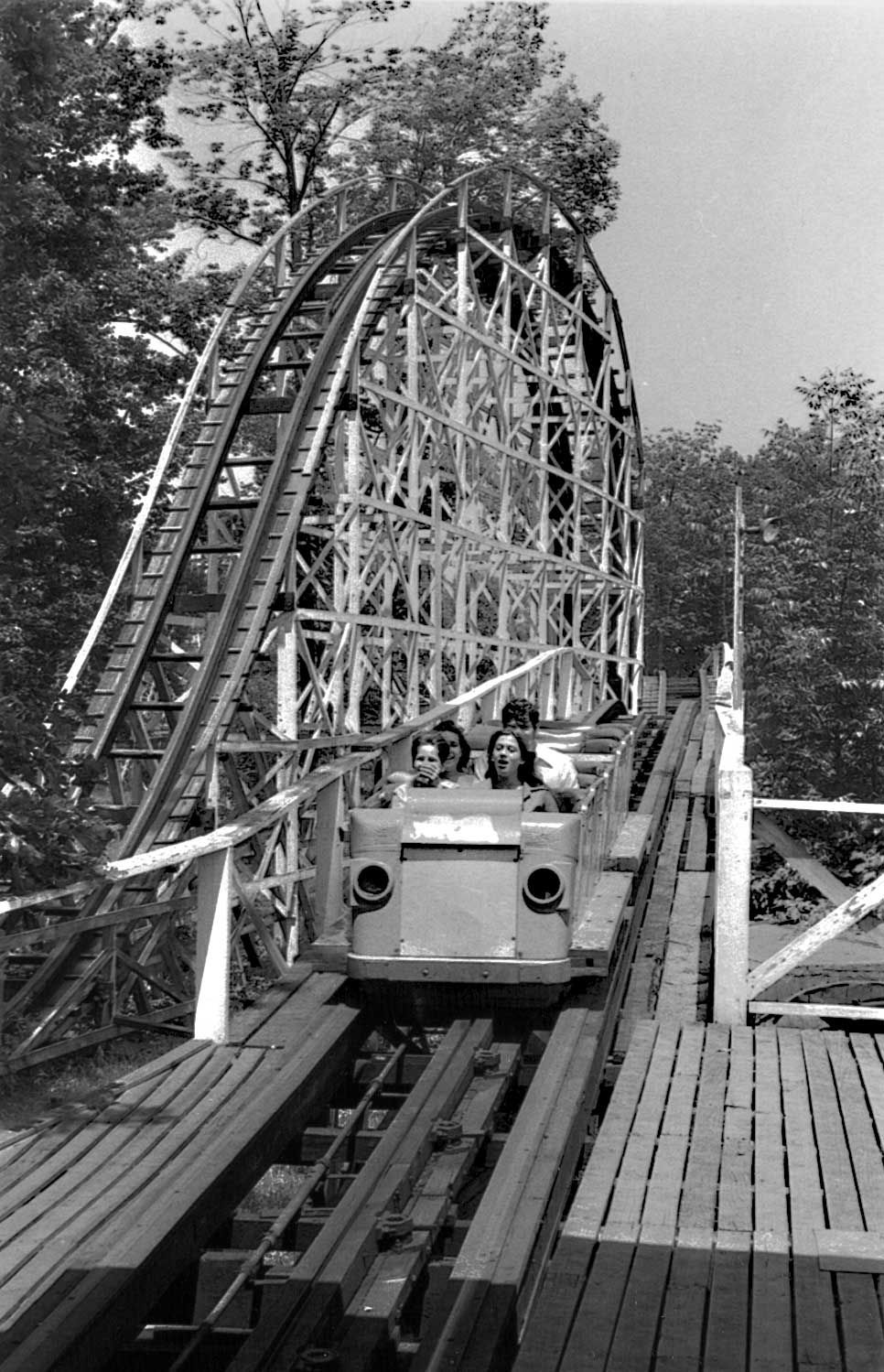 Lake Lansing Amusement Park Roller Coaster In 1970s Before