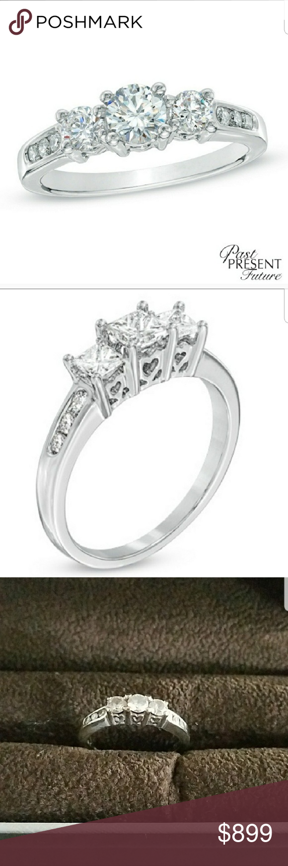 Past Present Future 1 2 Carat Diamond Ring With Images