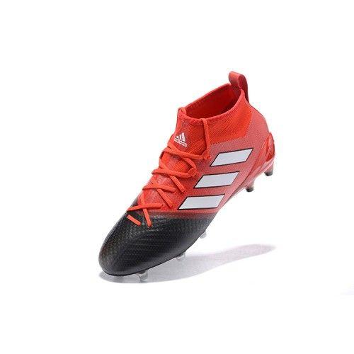 classic fit acd0a 5bee0 Nuevo Adidas ACE 17.1 FG Negro Rojo Botas De Futbol