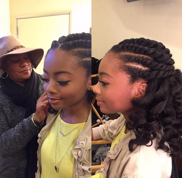 Hairstyles For Black Girls african american updo hairstyles with braided for little girl Natural Hairstyles For Teens Skai Jackson
