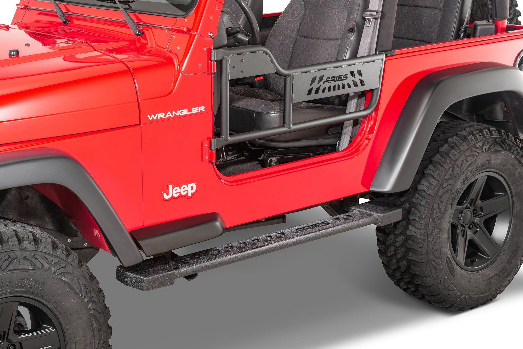 Aries 1500100 Front Tube Doors For 97 06 Jeep Wrangler Tj Jeep Wrangler Wrangler Tj Jeep