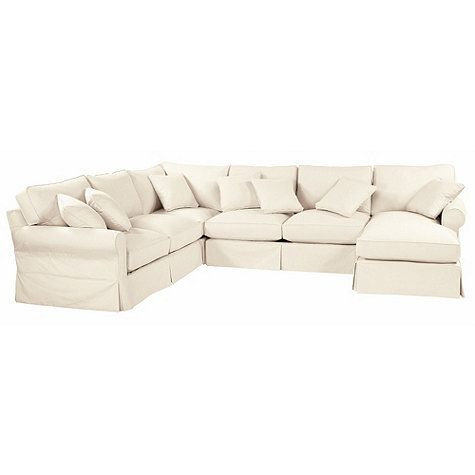 Baldwin 4 Piece Sectional With Right Arm Chaise Slipcover And Frame Room For Everyone Ballard Design