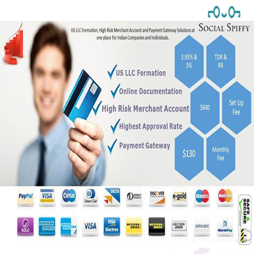 Acquire high risk merchant account and payment gateway for
