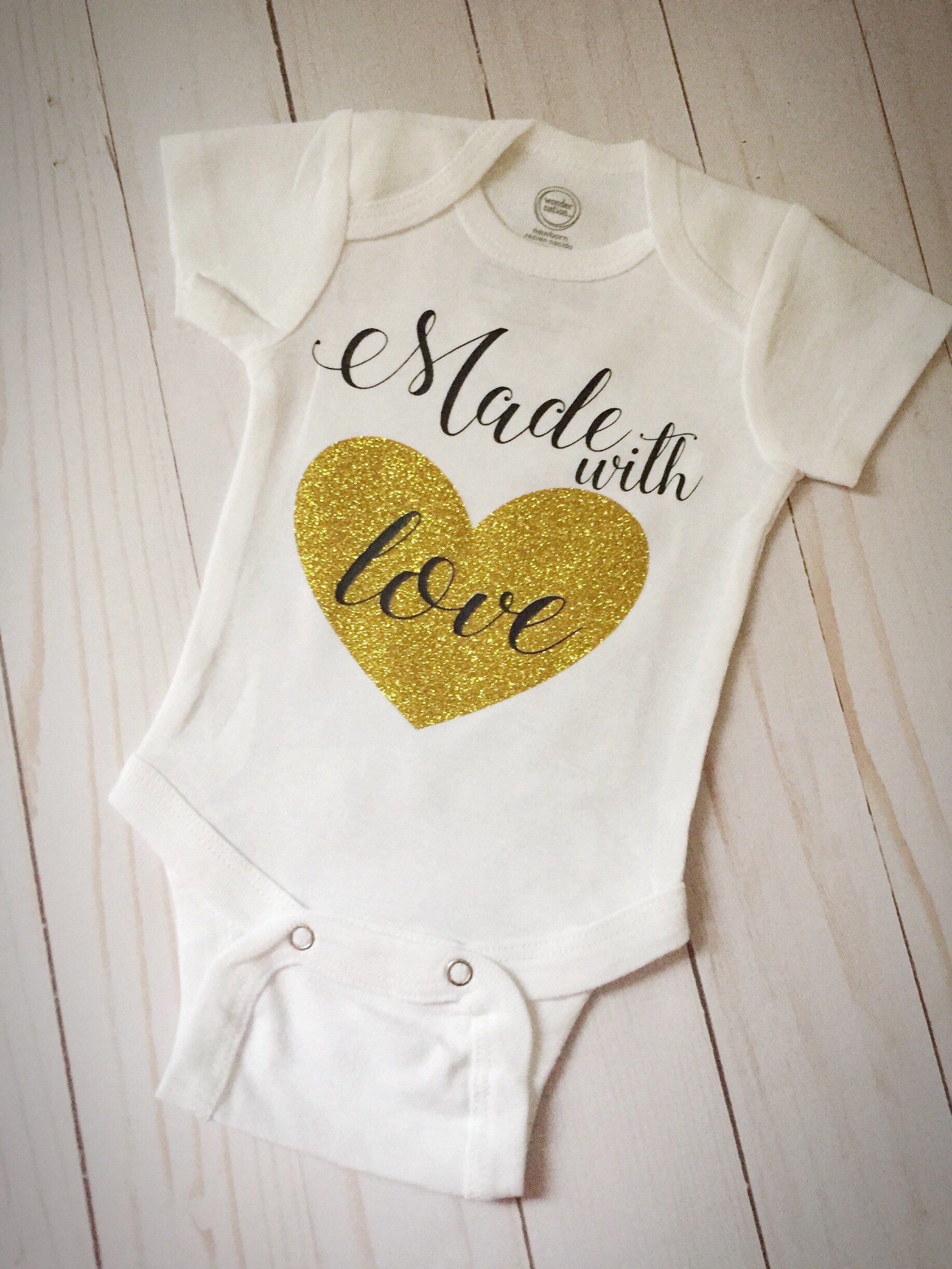 ce87c8119bd Made with Love Baby Onesie