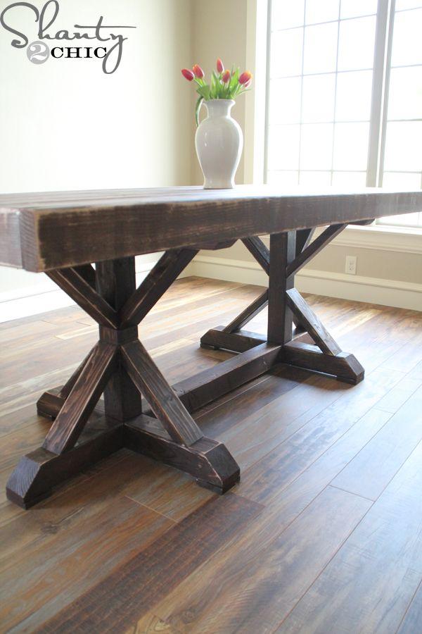 Tremendous Restoration Hardware Inspired Dining Table For 110 Diy Interior Design Ideas Inesswwsoteloinfo