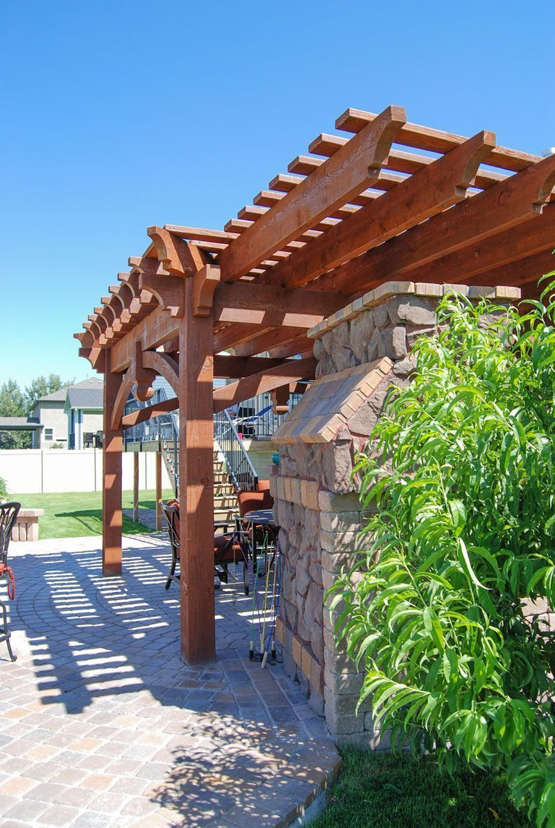 Extended roof on a ShadeScape™ DIY Pergola Kit with a Full