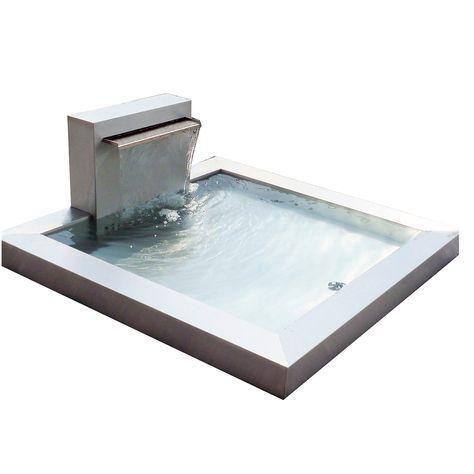 Edler Brunnen im Bauhausstil im zeitlosen Design Garten Pinterest - brunnen garten stein