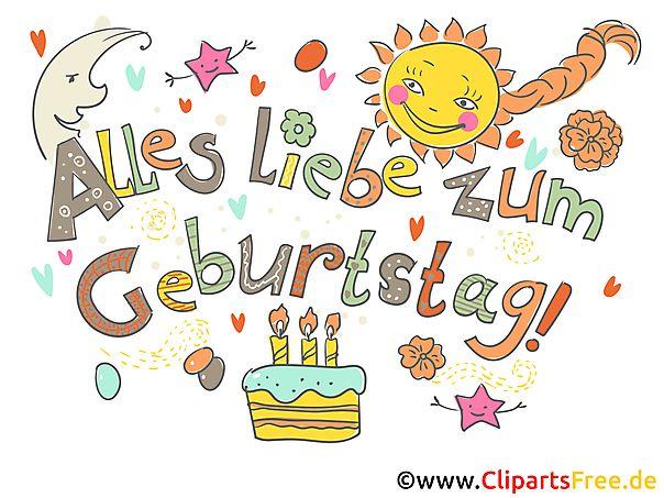 Geburtstag Cliparts Kostenlos Geburtstag Pinterest
