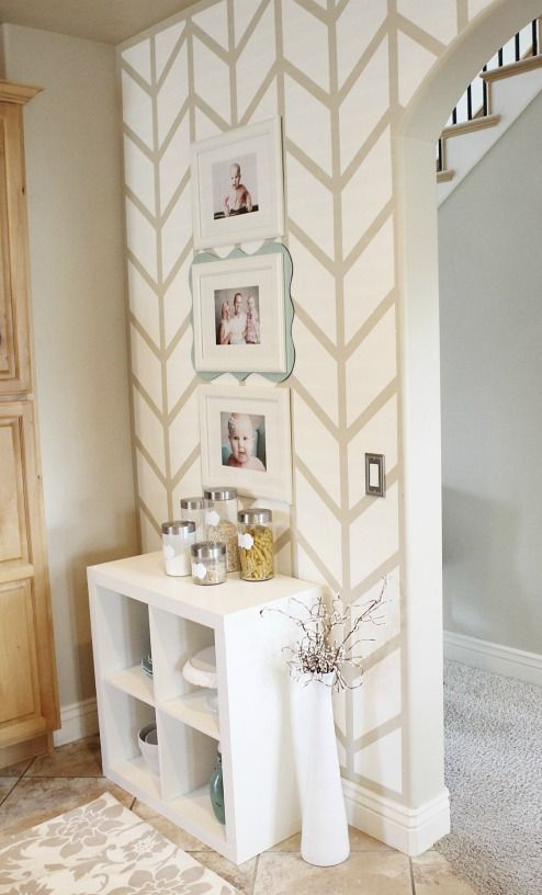 Bring creativity to any room by painting a Herringbone accent wall