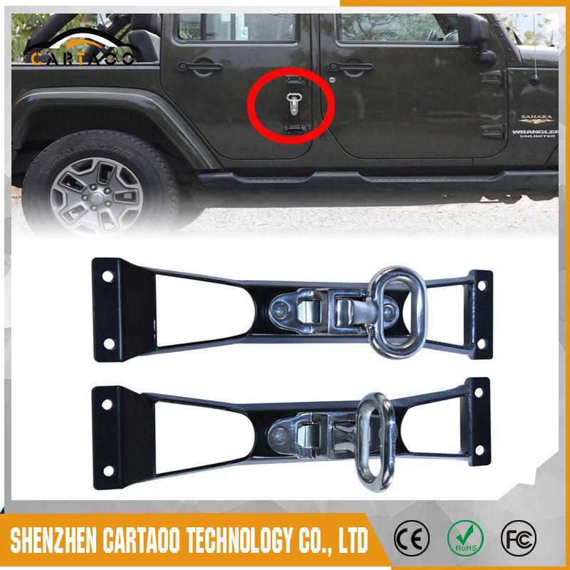 For 07 17 Jeep Wrangler 4 Door Foot Pegs Pedal Nerf 4 Door Jeep
