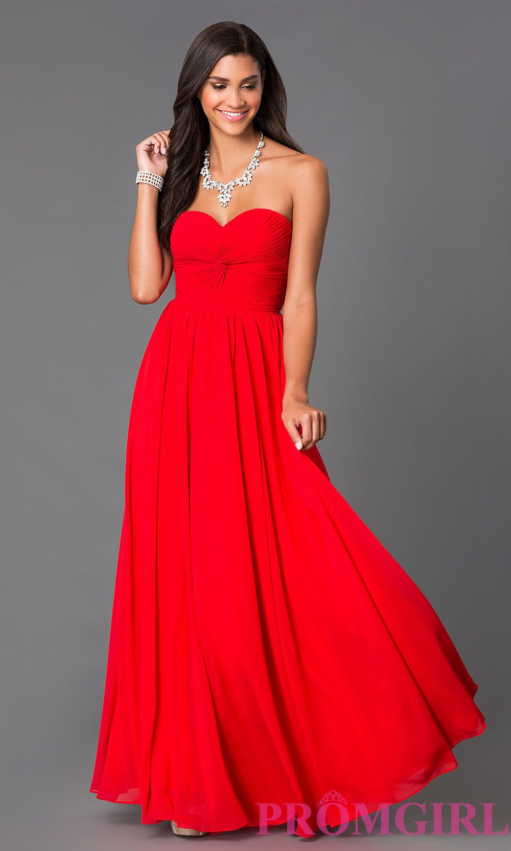 Strapless prom dress with lace up back weddings bridesmaids