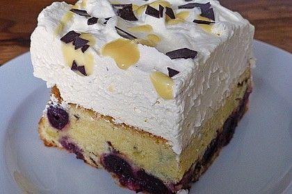 Kirsch - Eierlikör - Blechkuchen mit Schmand - Sahne von superkirst   Chefkoch