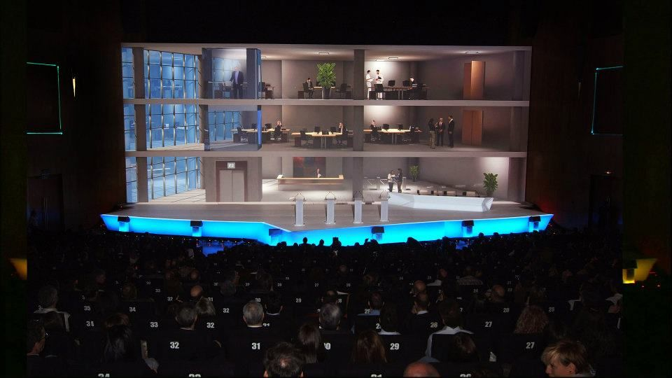 Corporate event Architectural Projection Mapping