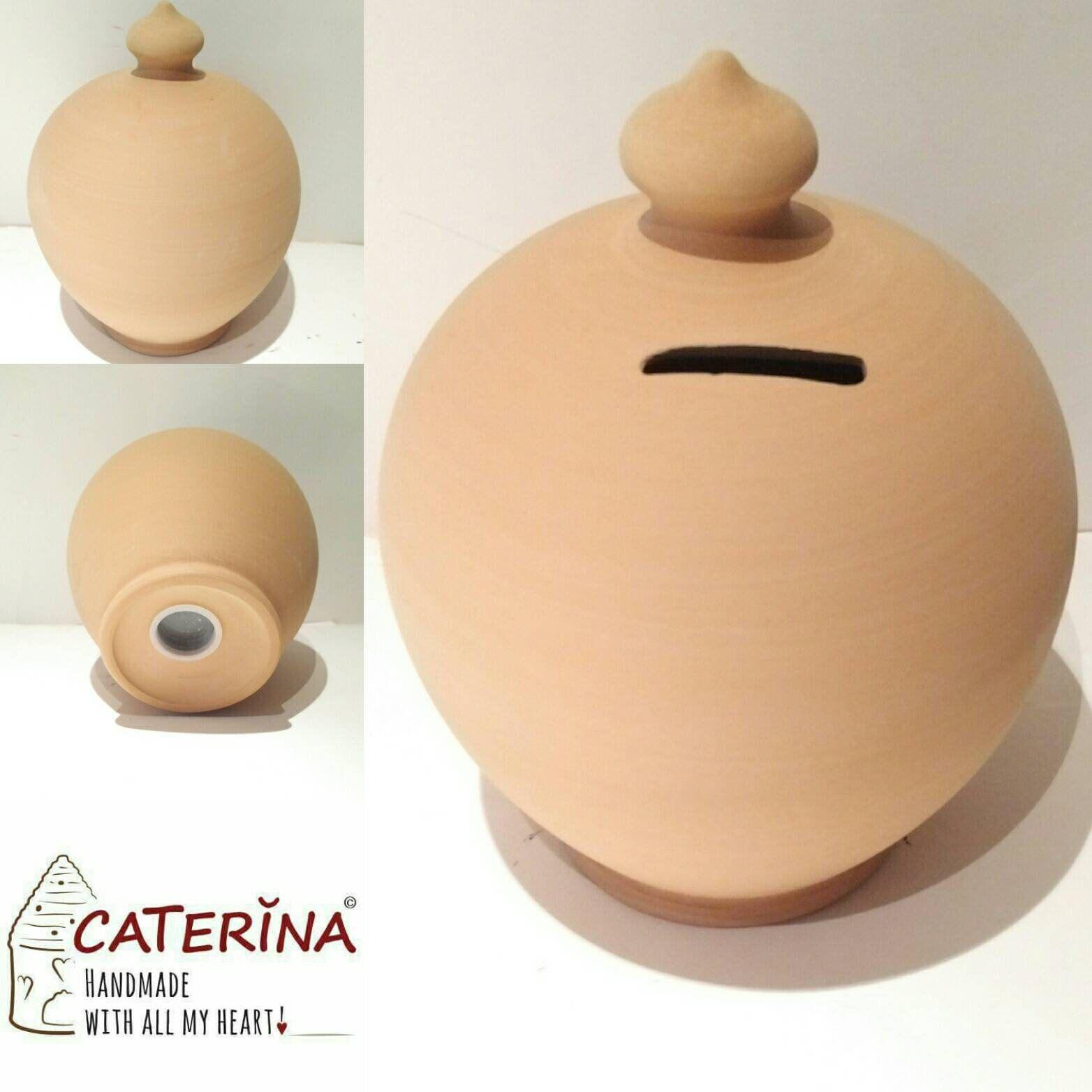 Piggy Bank Coin Bank Adult Caterina Handmade Money Pot