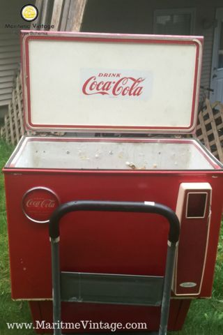 Vintage Coca Cola Cooler Project Idea Your Personal Home Designer Makeover  | Entryway Table Top Package | A New Way To Shop | Your Personal Home Decor  ...