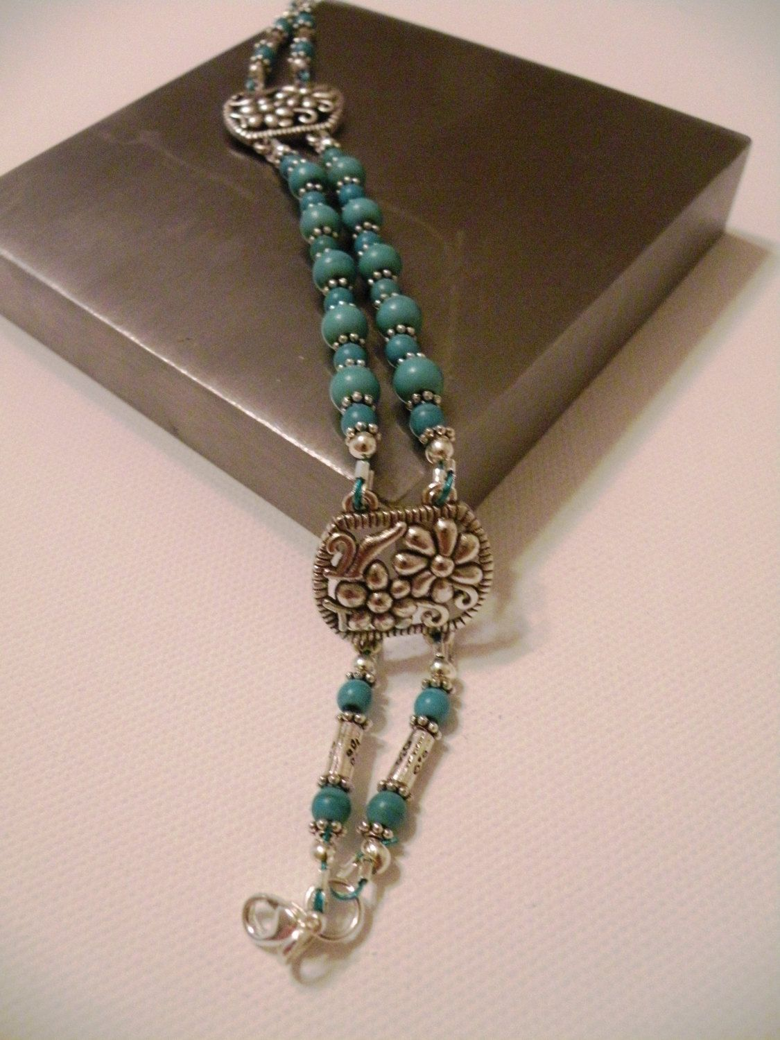 Turquoise 2 Strand Bracelet by OneOfAKindDesignsByD on Etsy