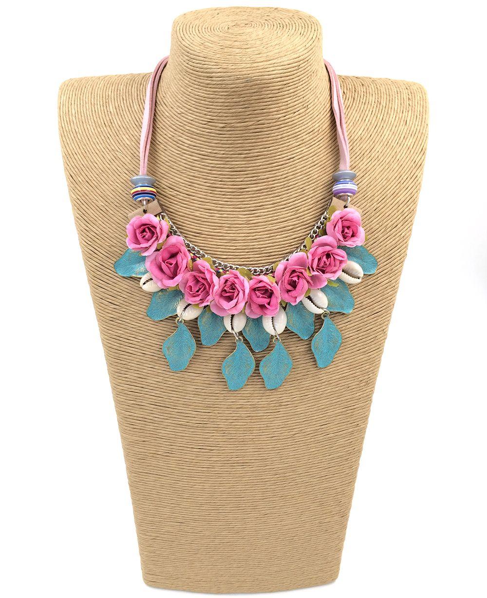 new rose flower retro choker necklace vintage leaf flower
