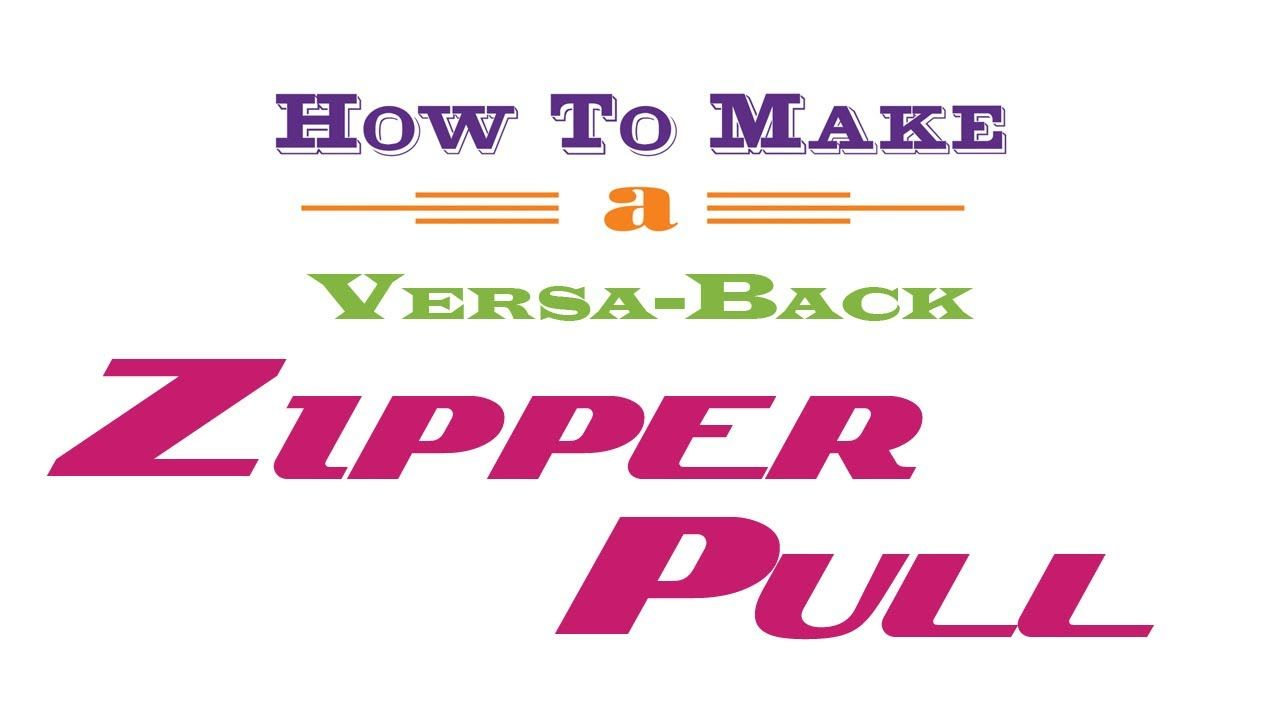 how to put zipper pull back on