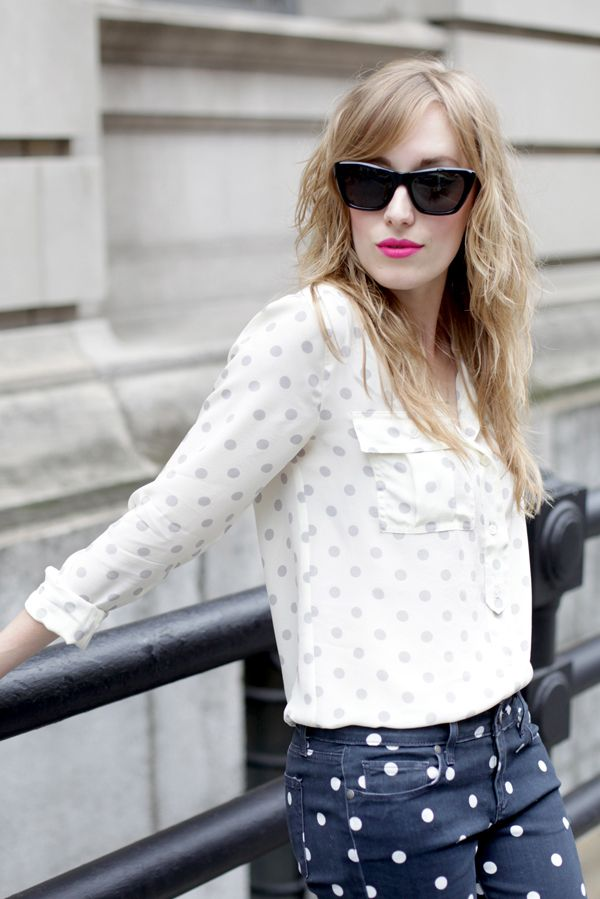 Spots on Spots #style #fashion #outfits #polkadots